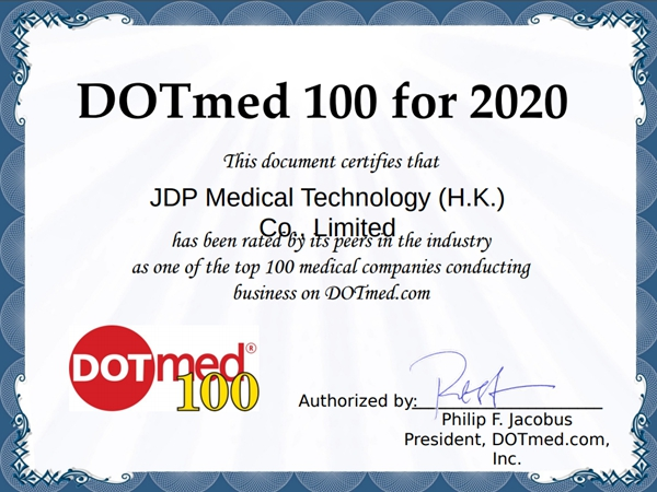 Win the title of DOTmed100 again in 2020