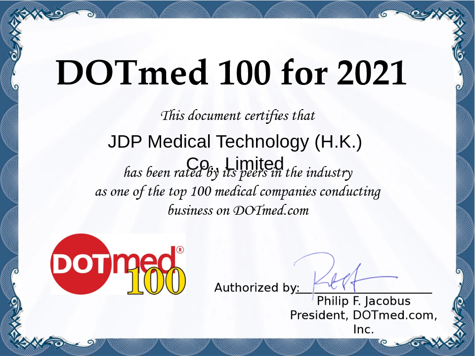 JDP Medical has obtained Dotmed100 again in 2021